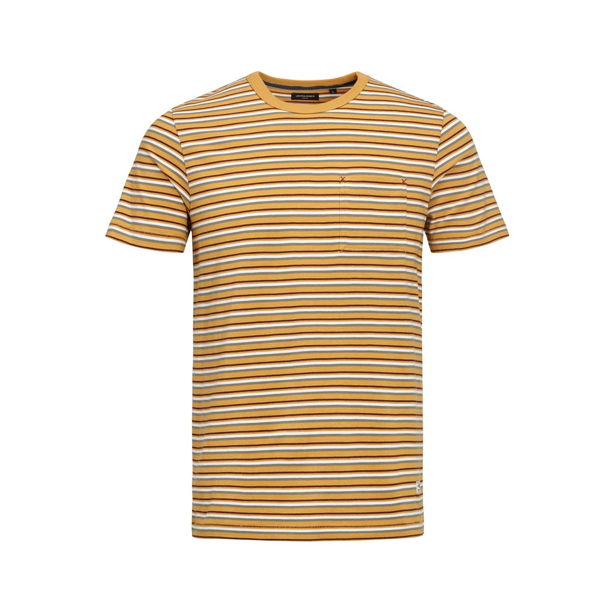 jprmatt stripe blu. tee ss crew neck 12152760 jack & jones t-shirt tinsel/slim fit
