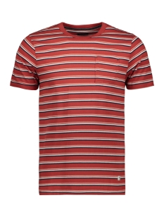 jprmatt stripe blu tee ss crew neck 12152760 jack & jones t-shirt ketchup/slim fit