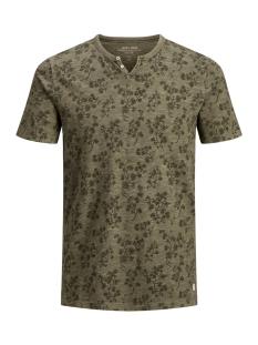 Jack & Jones T-shirt JPRTREYDEN AOP BLU. TEE SS SPLIT NE 12154611 Sea Turtle/SLIM FIT