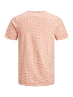 jprtreyden aop blu. tee ss split ne 12154611 jack & jones t-shirt café crème/slim fit