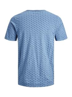jprtreyden aop blu. tee ss split ne 12154611 jack & jones t-shirt faded denim/slim fit