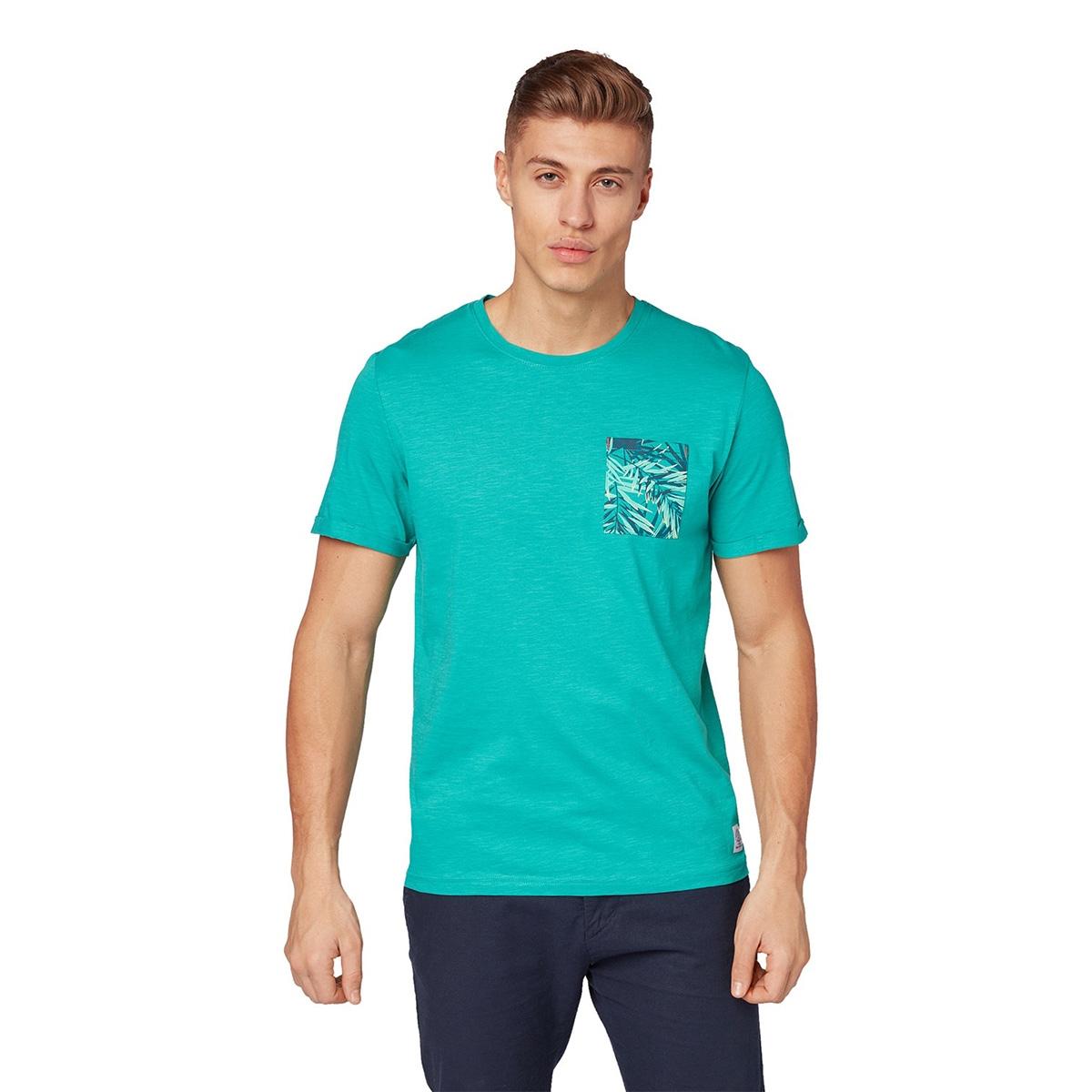 t shirt met borstzak 1011568xx10 tom tailor t-shirt 16205