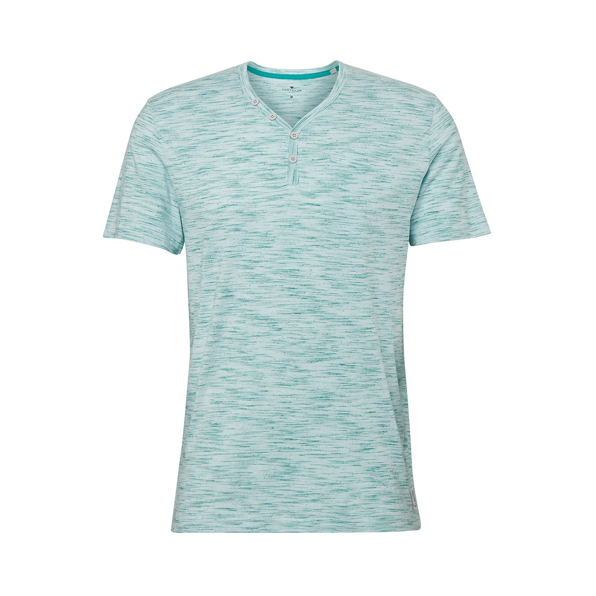 henley shirt met melange look 1011540xx10 tom tailor t-shirt 17957