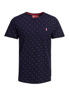Jack & Jones T-shirt JCOAND SS TEE CREW NECK 12154304 Maritime Blue/SLIM