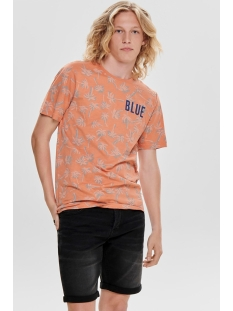 onspatrik fitted aop ss tee nf 3158 22013158 only & sons t-shirt carnelian