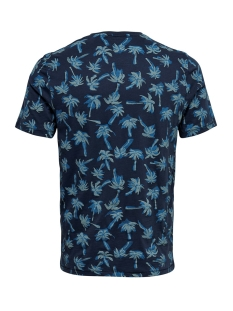 onspatrik fitted aop ss tee nf 3158 22013158 only & sons t-shirt dress blues