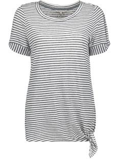 Sandwich T-shirt GESTREEPT T SHIRT MET KNOOPDETAIL 21101691 10058