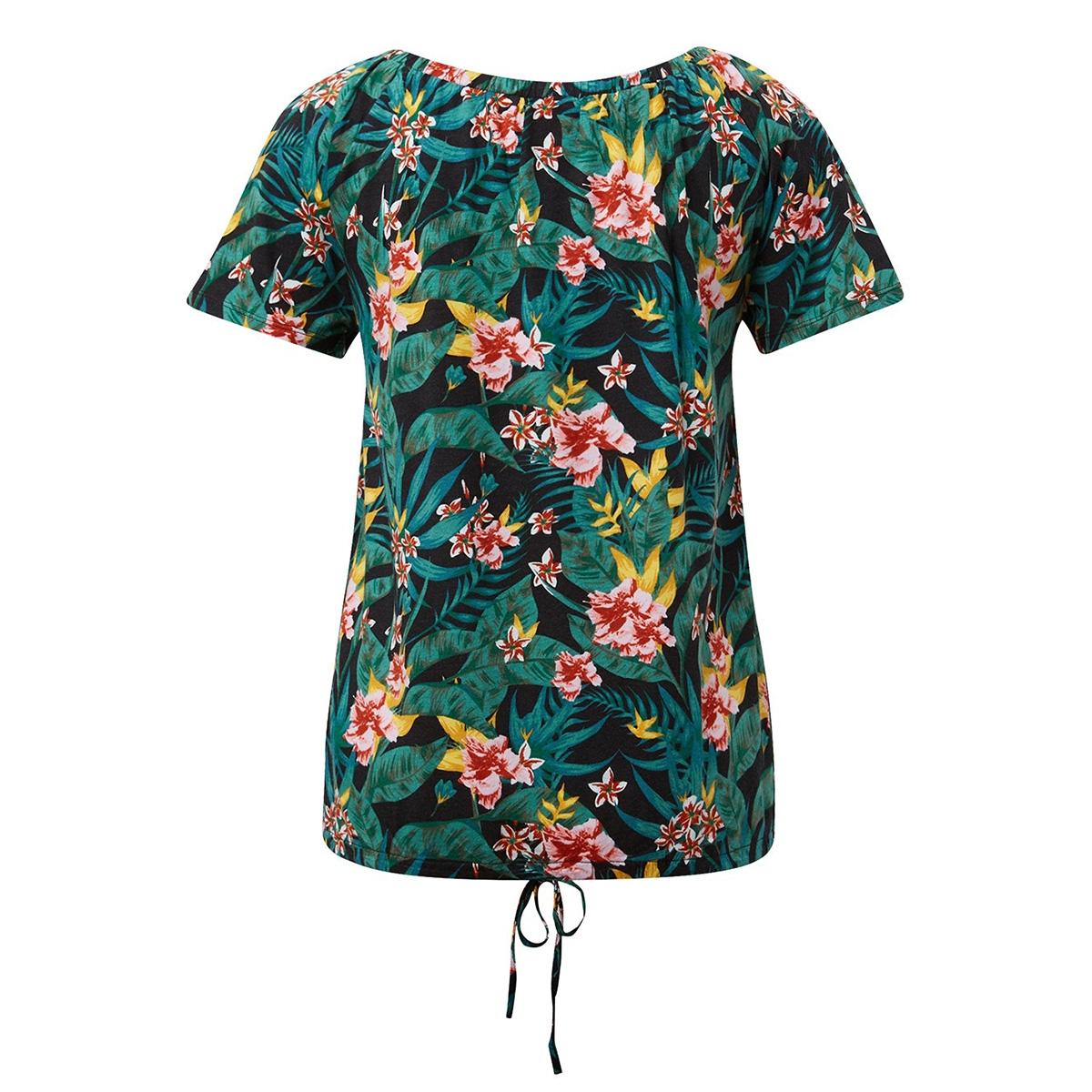 off shoulder shirt met bloemmotief 1011078xx70 tom tailor t-shirt 17739