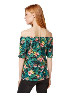 off shoulder shirt met bloemmotief 1011078xx70 tom tailor t-shirt 17739