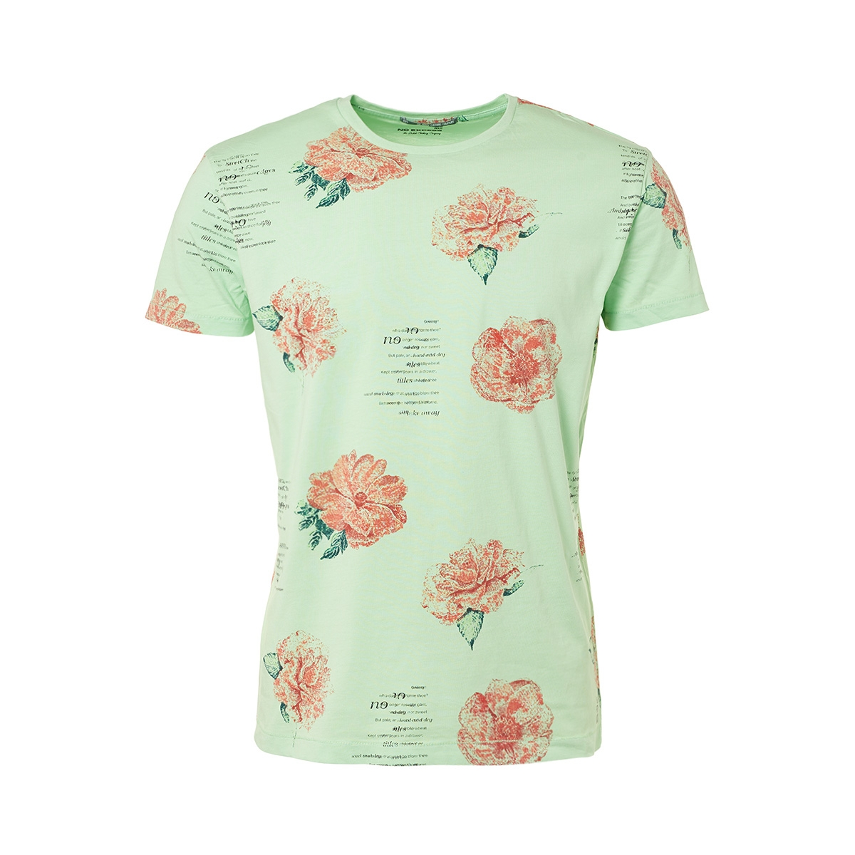 t shirt printed 91340609 no-excess t-shirt 051 lt green