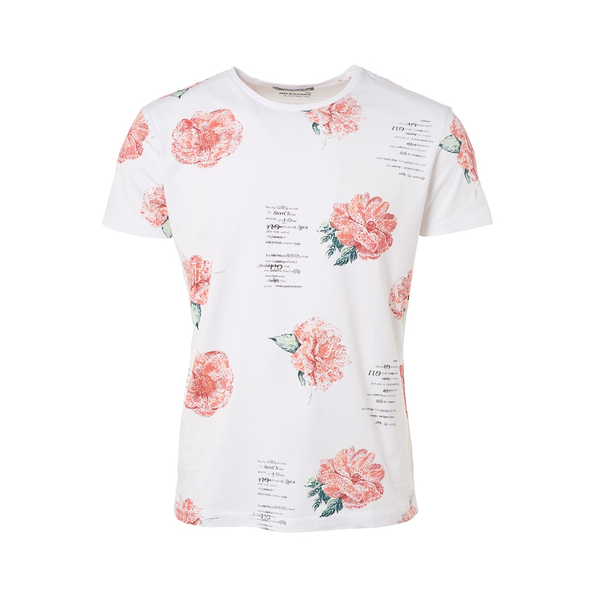 t shirt printed 91340609 no-excess t-shirt 010 white