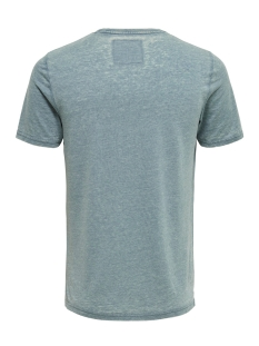 onsnext burnout print slim tee nf 3 22013160 only & sons t-shirt smoke blue