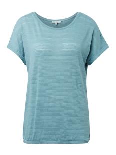 Tom Tailor T-shirt T SHIRT MET ELASTISCH ZOOM 1010916XX71 13178