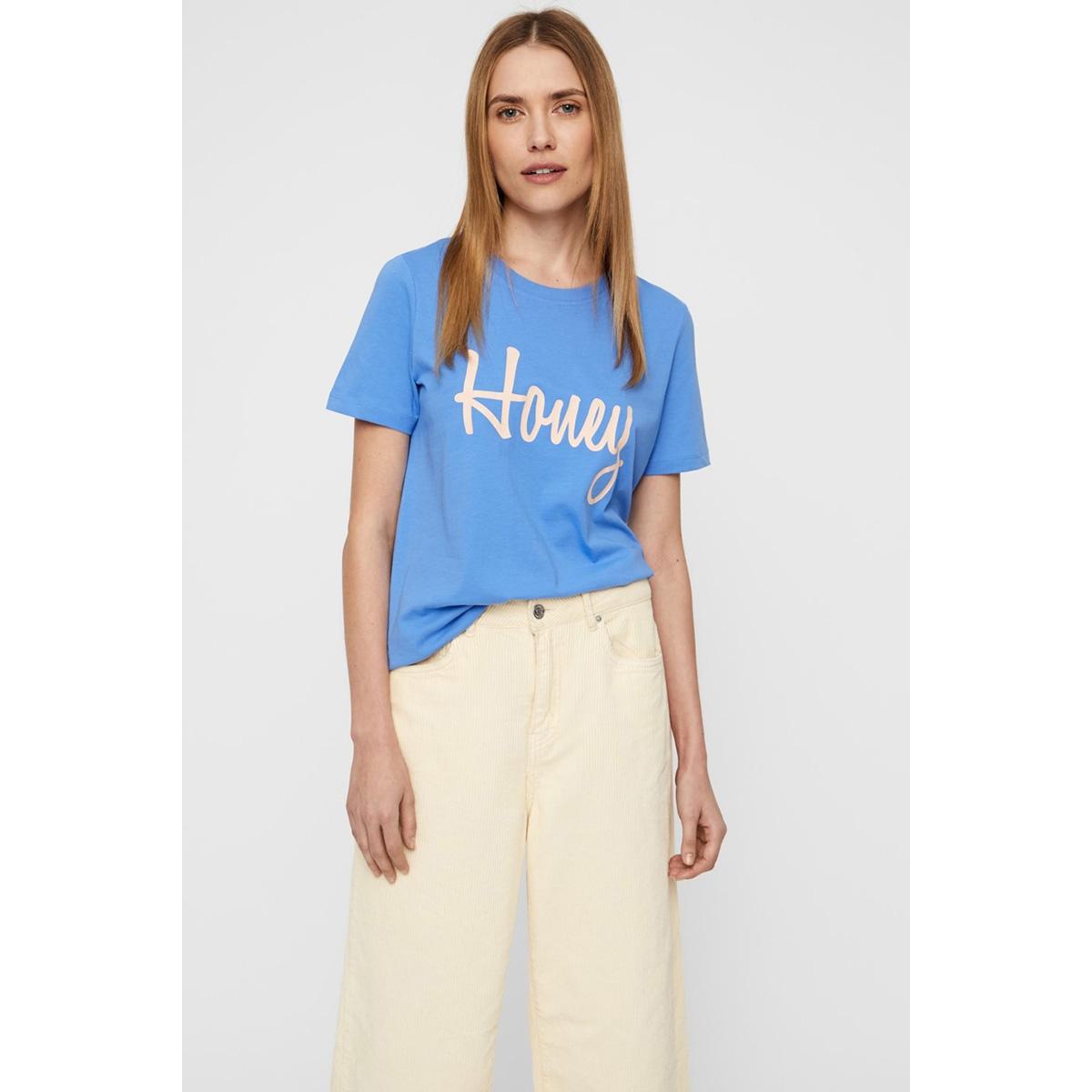 vmhoney olly ss top box ga jrs  10214785 vero moda t-shirt granada sky/honey