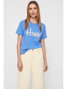 vmhoney olly ss top box ga jrs  10214785 vero moda t-shirt granada sky/honey