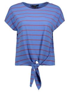 Vero Moda T-shirt VMSHANNON SS WIDE KNOT TOP JRS 10215979 Granada Sky/FIERY RED