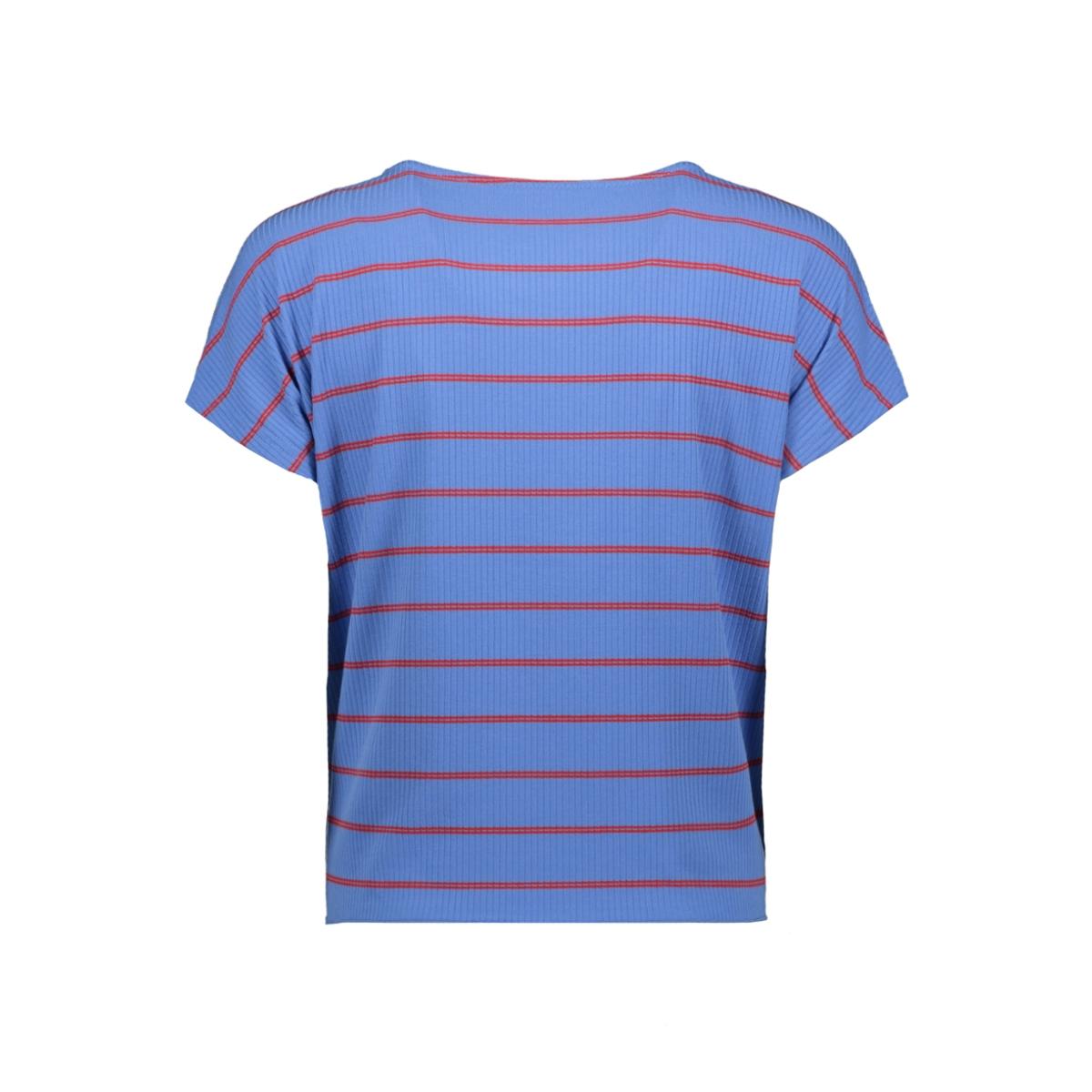 vmshannon ss wide knot top jrs 10215979 vero moda t-shirt granada sky/fiery red
