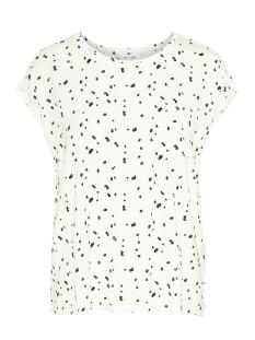 Vero Moda T-shirt VMAVA PLAIN SS TOP AOP GA COLOR 10211314 Snow White/COLL 4 DOT