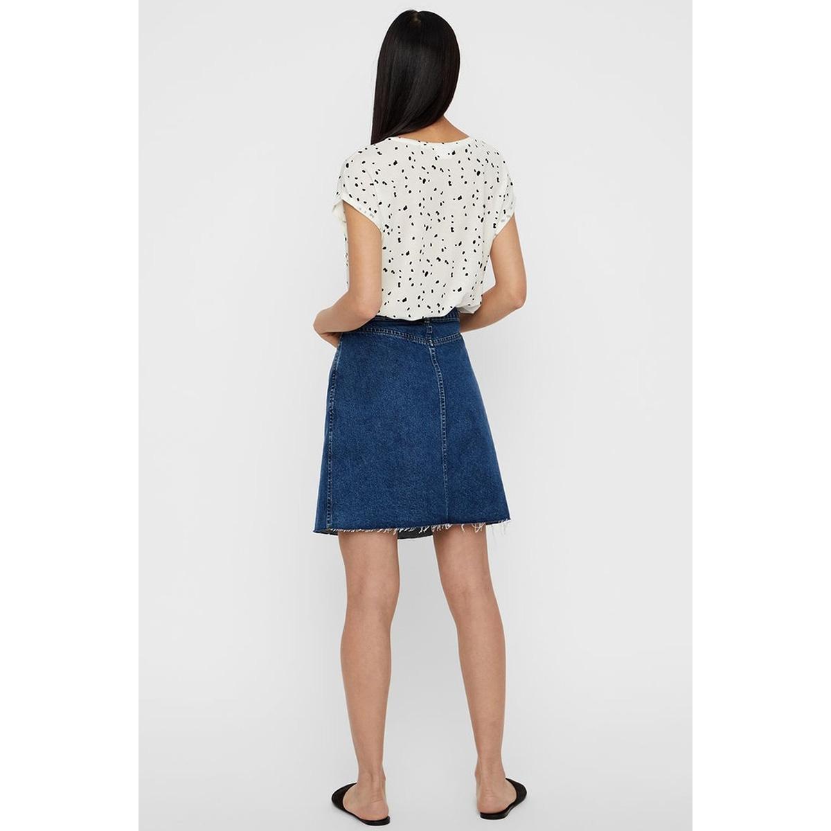 vmava plain ss top aop ga color 10211314 vero moda t-shirt snow white/coll 4 dot