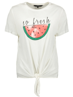 Vero Moda T-shirt VMMELON SS TOP JRS 10214790 Snow White/SO FRESH