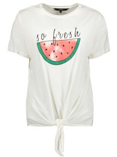 vmmelon ss top jrs 10214790 vero moda t-shirt snow white/so fresh