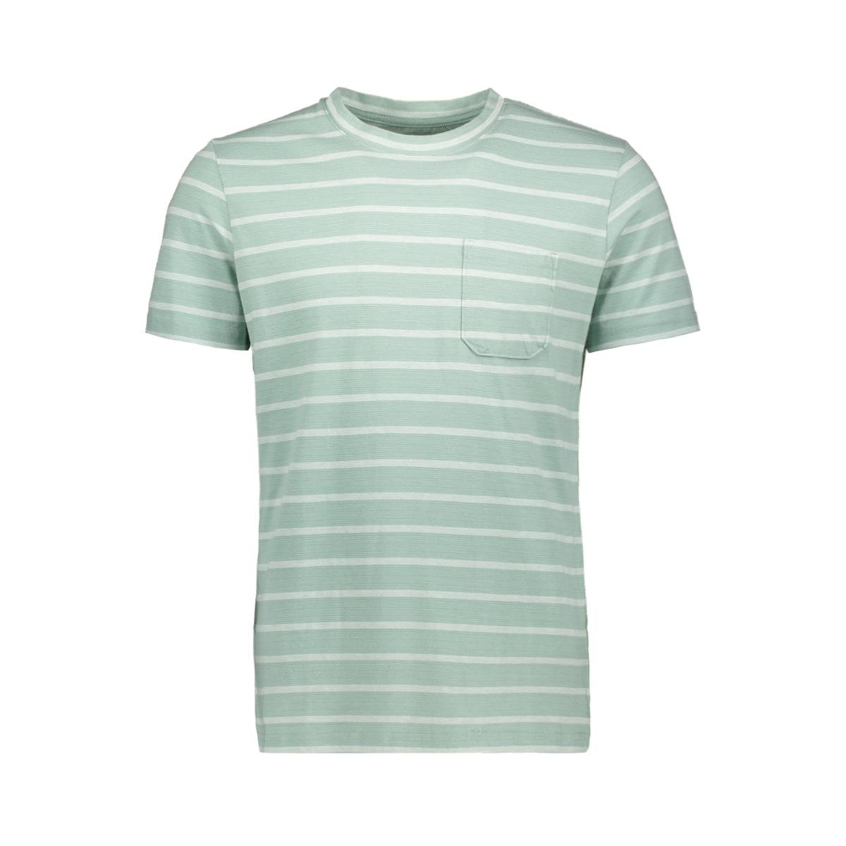 jcoklark tee ss crew neck 12152495 jack & jones t-shirt blue surf/slim