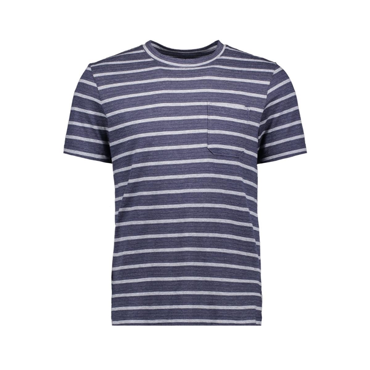 jcoklark tee ss crew neck 12152495 jack & jones t-shirt maritime blue/slim