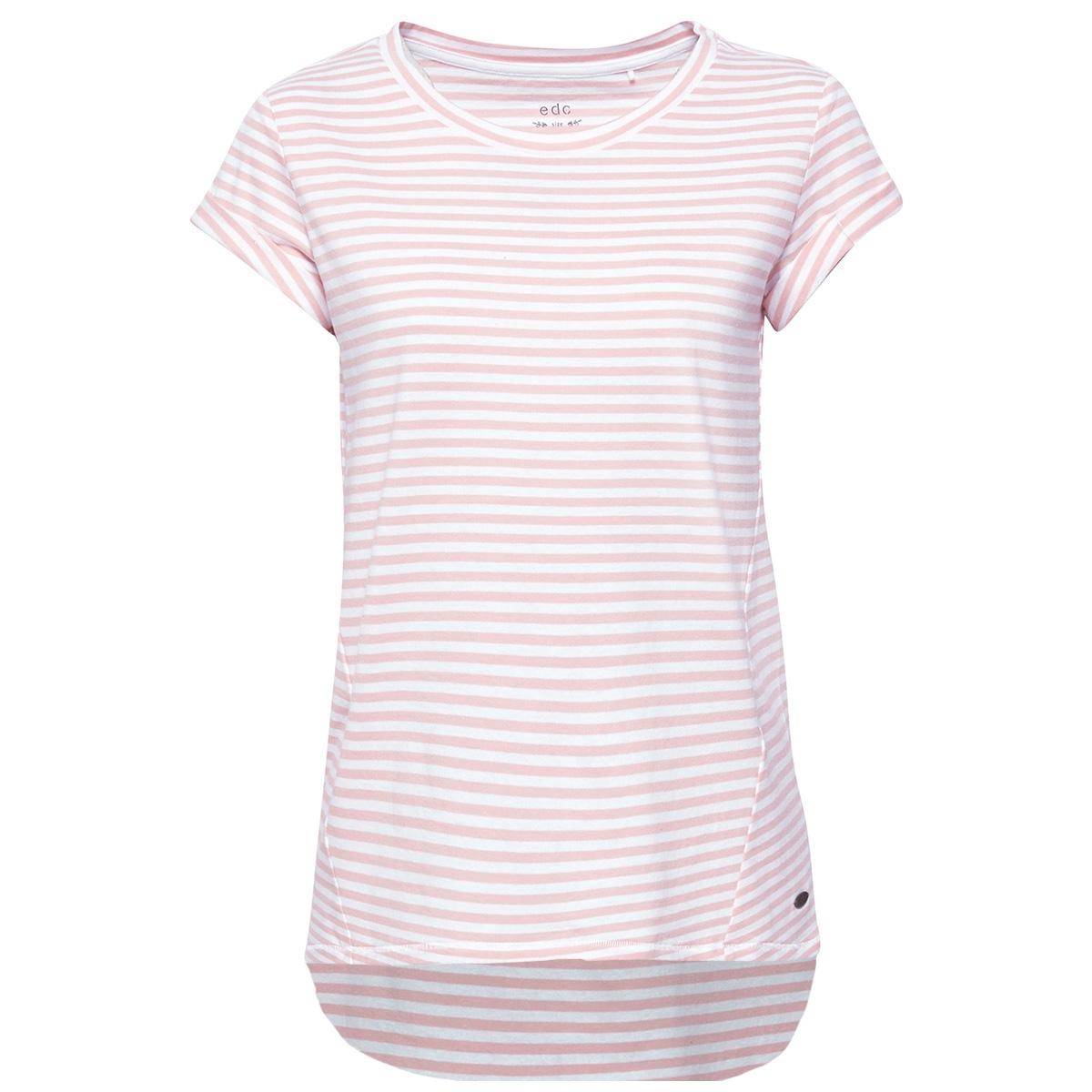 gestreept shirt met langer achterpand 059cc1k003 edc t-shirt c690
