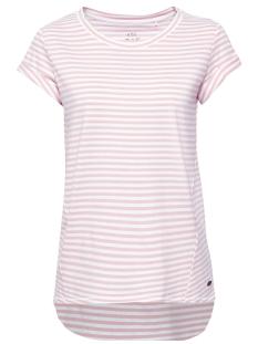 EDC T-shirt GESTREEPT SHIRT MET LANGER ACHTERPAND 059CC1K003 C690