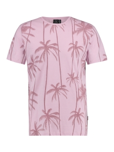 Kultivate T-shirt TEE PURPLE PALMS 1901020226 479 THISTLE