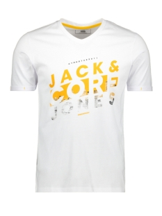 Jack & Jones T-shirt JCONEW BERCAMP TEE SS CREW NECK 12163083 White/SLIM
