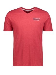 jconew bercamp tee ss crew neck 12163083 jack & jones t-shirt tango red/mel. slim