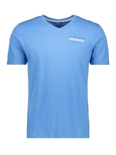 jconew bercamp tee ss crew neck 12163083 jack & jones t-shirt azure blue/mel. slim
