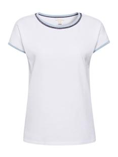 shirt met glinsterende rand 069ee1k048 esprit t-shirt e100