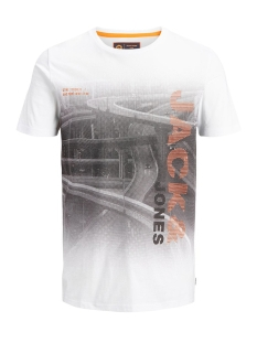 Jack & Jones T-shirt JCOAUTUMN TEE SS CREW NECK 12156273 White/SLIM