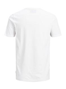 jcoautumn tee ss crew neck 12156273 jack & jones t-shirt white/slim