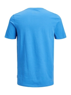 jcoautumn tee ss crew neck 12156273 jack & jones t-shirt indigo bunting/slim