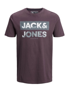 Jack & Jones T-shirt JCOAUTUMN TEE SS CREW NECK 12156273 Fudge/SLIM