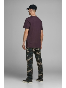 jcoautumn tee ss crew neck 12156273 jack & jones t-shirt fudge/slim