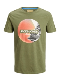 Jack & Jones T-shirt JCOAUTUMN TEE SS CREW NECK 12156273 Winter Moss/SLIM