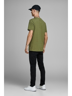 jcoautumn tee ss crew neck 12156273 jack & jones t-shirt winter moss/slim