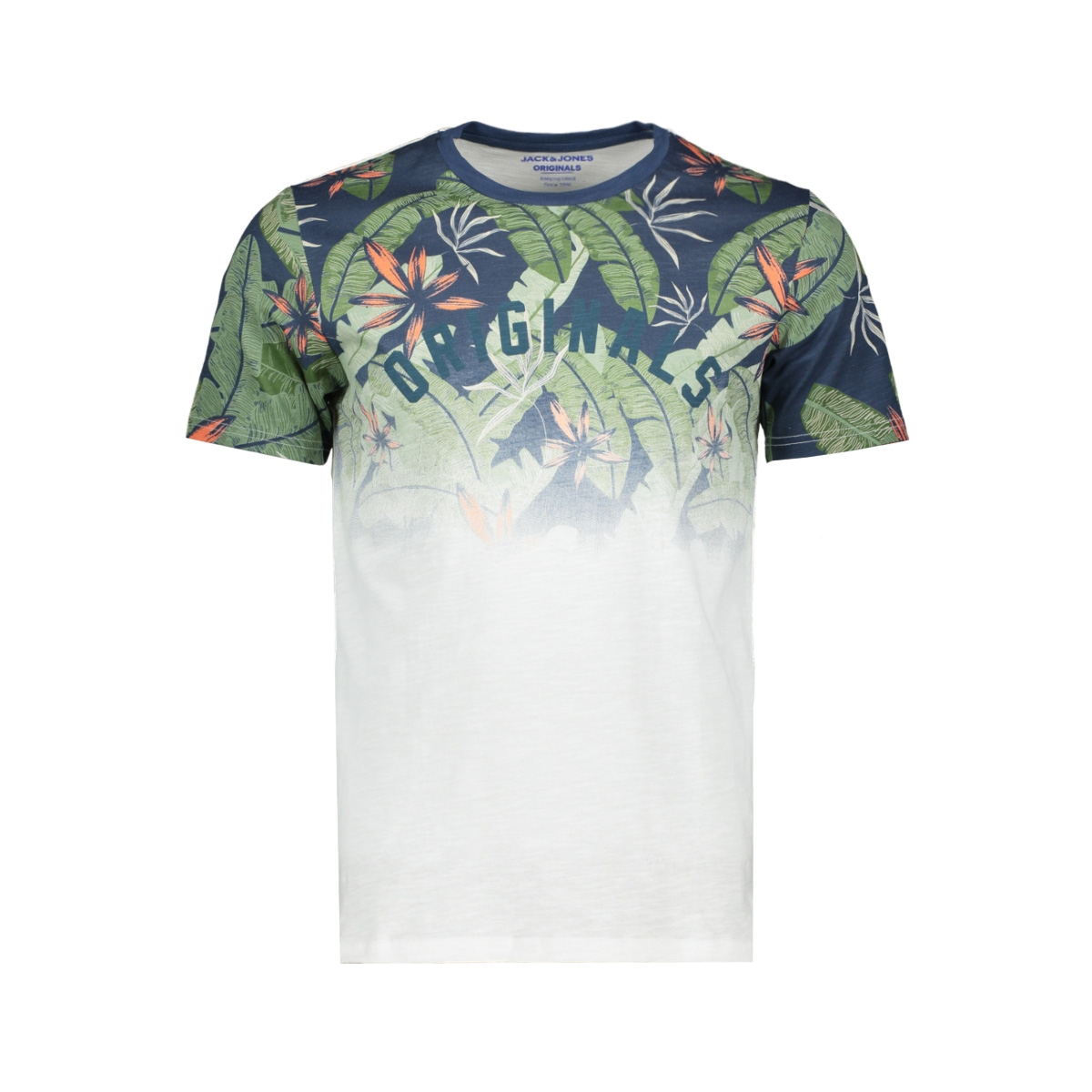 jornewolympia tee ss crew neck 12160833 jack & jones t-shirt white/slim