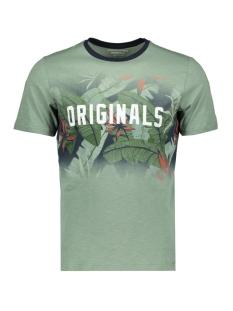 jornewolympia tee ss crew neck 12160833 jack & jones t-shirt green bay/slim