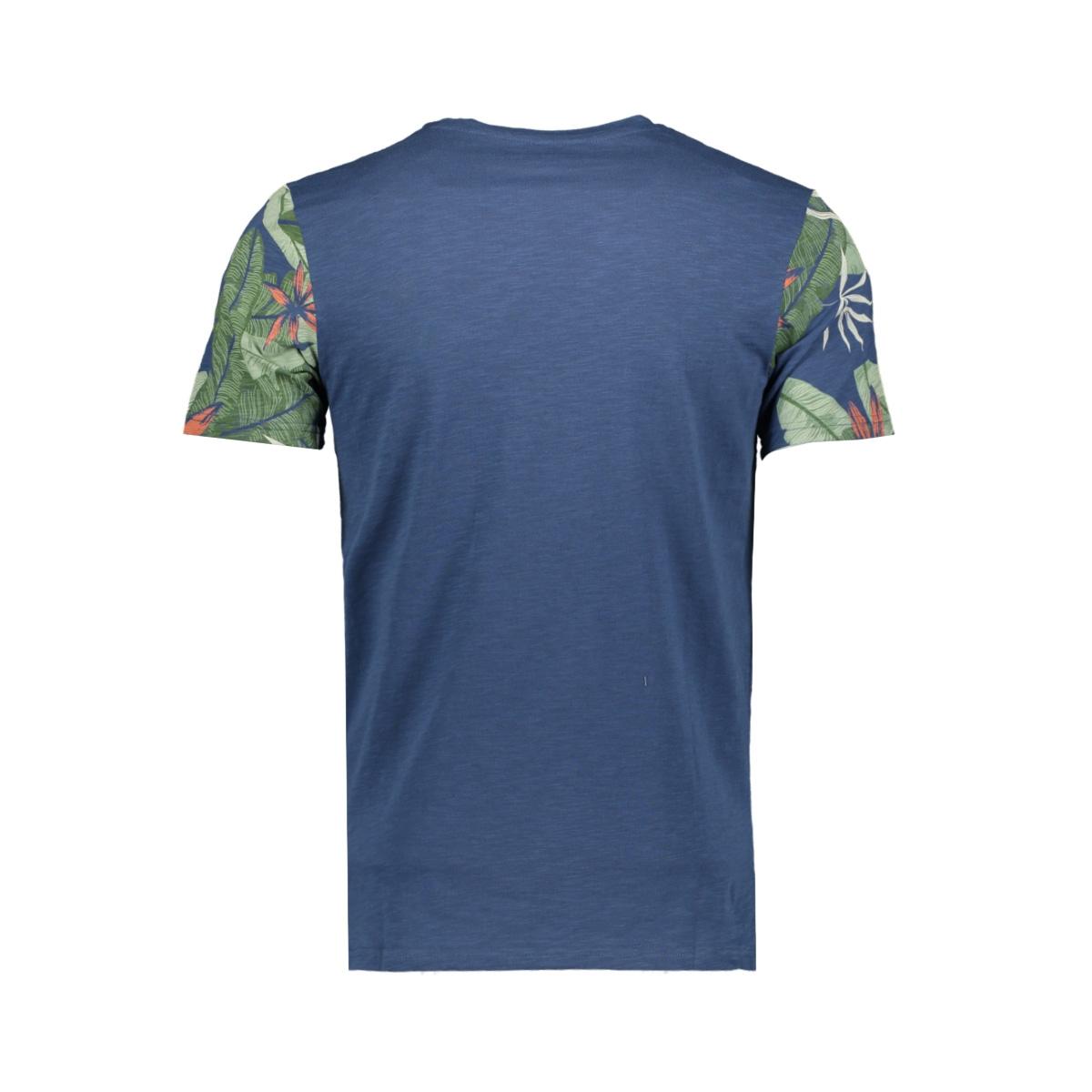 jornewolympia tee ss crew neck 12160833 jack & jones t-shirt dark denim/slim