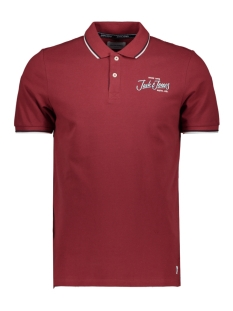 Jack & Jones Polo JORBEAMS POLO SS 12155580 Brick Red/SLIM