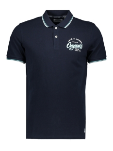 Jack & Jones Polo JORBEAMS POLO SS 12155580 Total Eclipse/SLIM