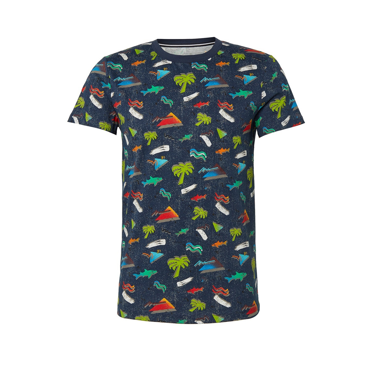 t shirt met all over print 1011386xx12 tom tailor t-shirt 18294