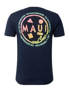 t shirt met print op de rug 1011383xx12 tom tailor t-shirt 10915