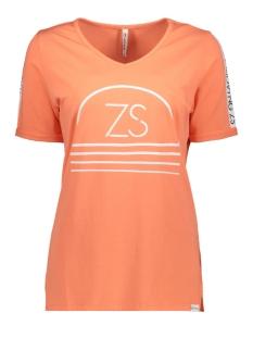 Zoso T-shirt SERENA PRINTED T-SHIRT 192 SALMON