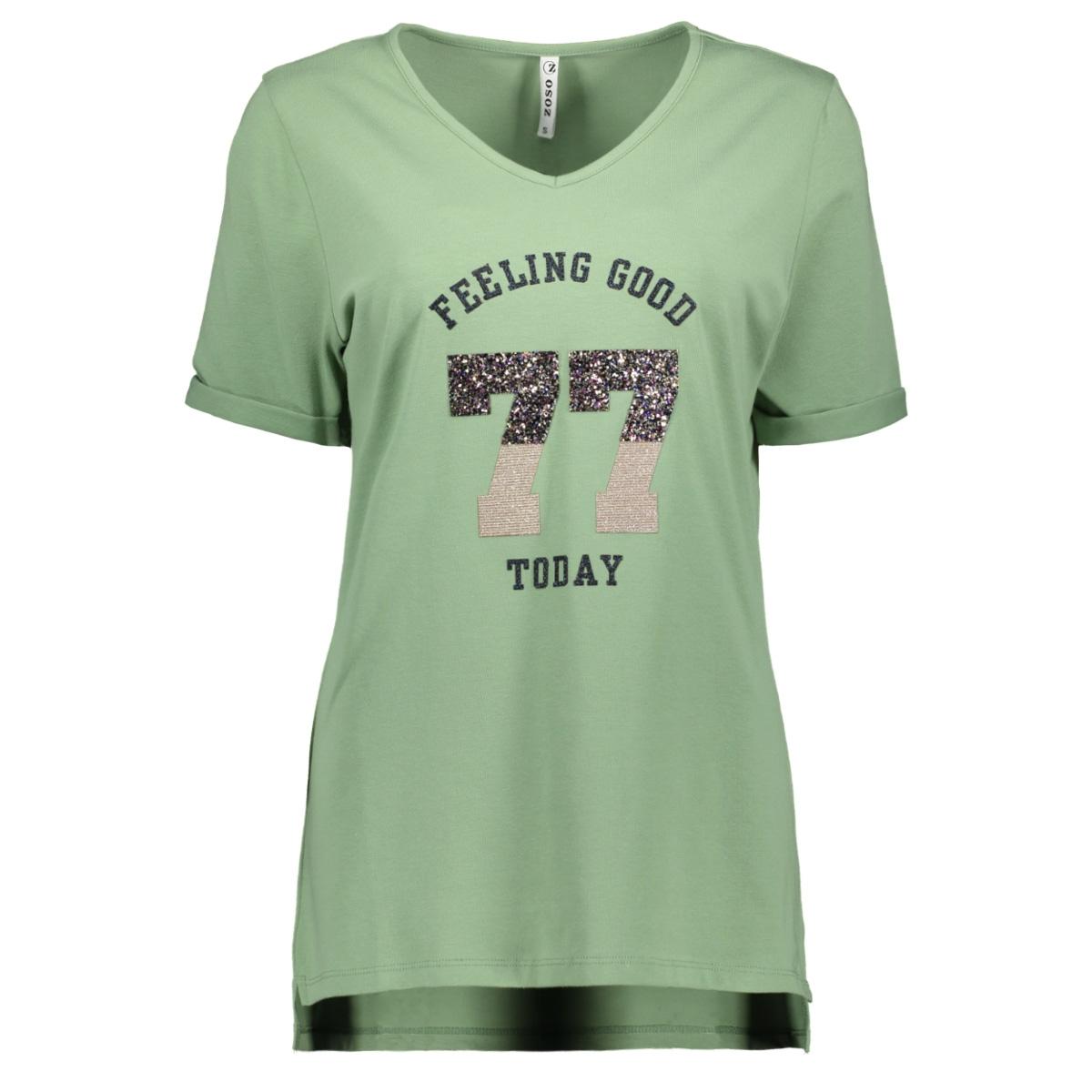 sheila t shirt with applicat 192 zoso t-shirt sage